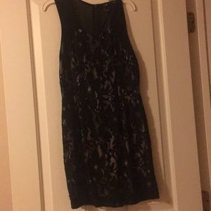 Pretty black dress with lace